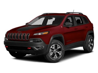 Deep Cherry Red Crystal Pearlcoat 2014 Jeep Cherokee Pictures Cherokee Utility 4D Trailhawk 4WD photos front view