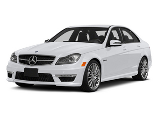 Polar White 2014 Mercedes-Benz C-Class Pictures C-Class Sport Sedan 4D C63 AMG photos front view