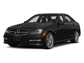 Obsidian Black Metallic 2014 Mercedes-Benz C-Class Pictures C-Class Sport Sedan 4D C63 AMG photos front view