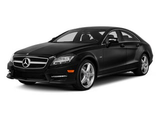 Obsidian Black Metallic 2014 Mercedes-Benz CLS-Class Pictures CLS-Class Sedan 4D CLS550 AWD photos front view