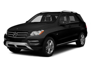 Obsidian Black Metallic 2014 Mercedes-Benz M-Class Pictures M-Class Utility 4D ML350 AWD V6 photos front view