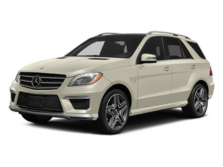 Diamond White Metallic 2014 Mercedes-Benz M-Class Pictures M-Class Utility 4D ML63 AMG AWD photos front view
