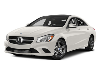 Cirrus White 2014 Mercedes-Benz CLA-Class Pictures CLA-Class Sedan 4D CLA250 AWD I4 Turbo photos front view