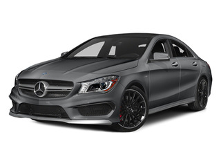 Magno Polar Silver 2014 Mercedes-Benz CLA-Class Pictures CLA-Class Sedan 4D CLA45 AMG AWD I4 Turbo photos front view