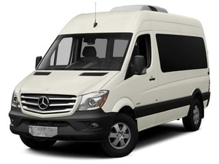 Gray White 2014 Mercedes-Benz Sprinter Passenger Vans Pictures Sprinter Passenger Vans Passenger Van photos front view
