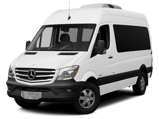 Arctic White 2014 Mercedes-Benz Sprinter Passenger Vans Pictures Sprinter Passenger Vans Passenger Van High Roof photos front view