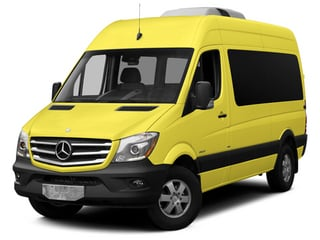 Calcite Yellow 2014 Mercedes-Benz Sprinter Passenger Vans Pictures Sprinter Passenger Vans Passenger Van photos front view