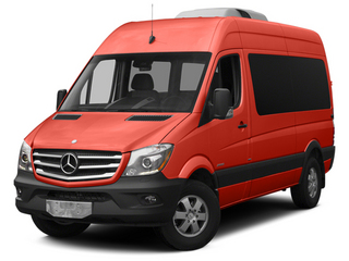 Flame Red 2014 Mercedes-Benz Sprinter Passenger Vans Pictures Sprinter Passenger Vans Passenger Van photos front view