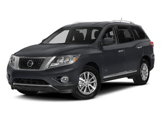 Dark Slate 2014 Nissan Pathfinder Pictures Pathfinder Utility 4D Platinum 2WD I4 Hybrid photos front view