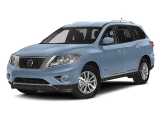 Arctic Blue Metallic 2014 Nissan Pathfinder Pictures Pathfinder Utility 4D Platinum 2WD I4 Hybrid photos front view