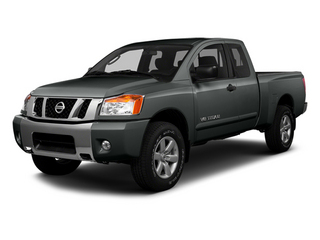 Gun Metallic 2014 Nissan Titan Pictures Titan King Cab S 4WD photos front view