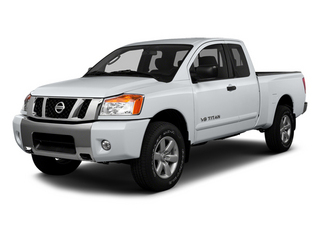 Glacier White 2014 Nissan Titan Pictures Titan King Cab S 4WD photos front view