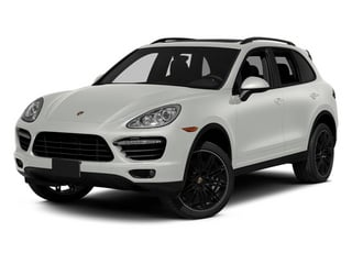White 2014 Porsche Cayenne Pictures Cayenne Utility 4D AWD V8 Turbo photos front view