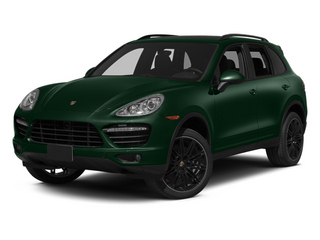 Jet Green Metallic 2014 Porsche Cayenne Pictures Cayenne Utility 4D AWD V8 Turbo photos front view