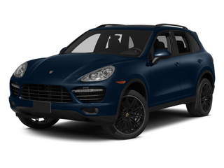 Dark Blue Metallic 2014 Porsche Cayenne Pictures Cayenne Utility 4D AWD V8 Turbo photos front view