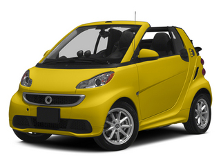 Clear Flame Yellow 2014 smart fortwo electric drive Pictures fortwo electric drive Convertible 2D Electric photos front view