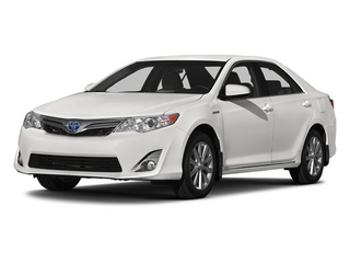 Super White 2014 Toyota Camry Hybrid Pictures Camry Hybrid Sedan 4D LE I4 Hybrid photos front view