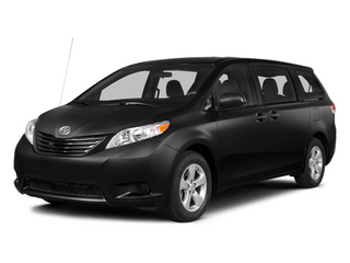 Black 2014 Toyota Sienna Pictures Sienna Wagon 5D LE AWD V6 photos front view