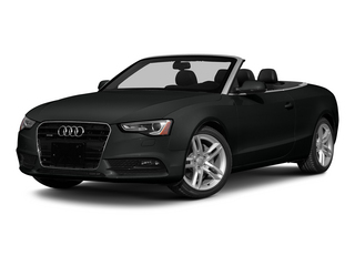 Mythos Black Metallic/Black Roof 2015 Audi A5 Pictures A5 Convertible 2D Premium Plus AWD photos front view