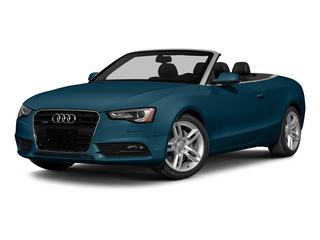 Utopia Blue Metallic/Black Roof 2015 Audi A5 Pictures A5 Convertible 2D Premium Plus AWD photos front view