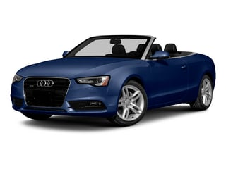 Scuba Blue Metallic/Black Roof 2015 Audi A5 Pictures A5 Convertible 2D Premium Plus AWD photos front view