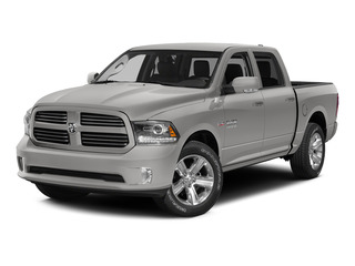Bright Silver Metallic Clearcoat 2015 Ram Truck 1500 Pictures 1500 Crew Cab Sport 4WD photos front view