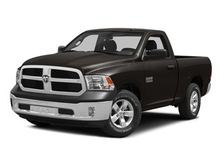 Black Clearcoat 2015 Ram Truck 1500 Pictures 1500 Regular Cab SLT 2WD photos front view
