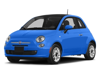 Laser Blu (Bright Met. Blue) 2015 FIAT 500 Pictures 500 Hatchback 3D Sport I4 photos front view