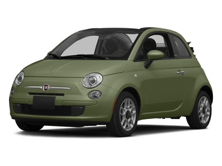 Verde Oliva (Olive Green) 2015 FIAT 500c Pictures 500c Convertible 2D Lounge I4 photos front view