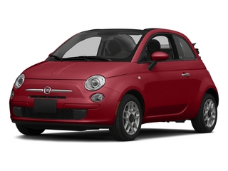 Rosso (Red) 2015 FIAT 500c Pictures 500c Convertible 2D Lounge I4 photos front view