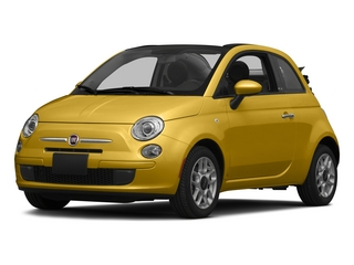Giallo Moderna Perla (Pearl Yellow TC) 2015 FIAT 500c Pictures 500c Convertible 2D Pop I4 photos front view