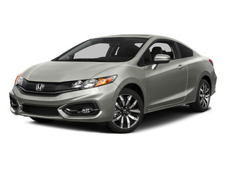 Alabaster Silver Metallic 2015 Honda Civic Coupe Pictures Civic Coupe 2D EX-L I4 photos front view