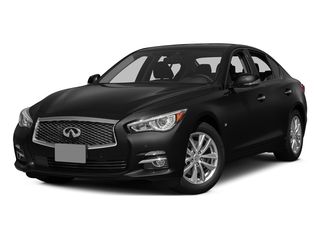 Black Obsidian 2015 INFINITI Q50 Pictures Q50 Sedan 4D Sport AWD V6 photos front view