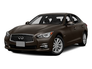 Chestnut Bronze 2015 INFINITI Q50 Pictures Q50 Sedan 4D Premium V6 Hybrid photos front view