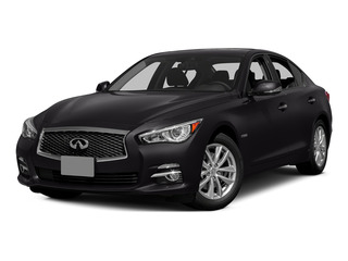 Malbec Black 2015 INFINITI Q50 Pictures Q50 Sedan 4D Premium V6 Hybrid photos front view