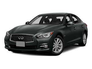 Graphite Shadow 2015 INFINITI Q50 Pictures Q50 Sedan 4D Premium V6 Hybrid photos front view