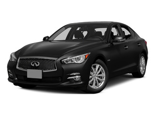 Black Obsidian 2015 INFINITI Q50 Pictures Q50 Sedan 4D Premium V6 Hybrid photos front view