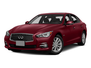 Venetian Ruby 2015 INFINITI Q50 Pictures Q50 Sedan 4D Premium V6 Hybrid photos front view