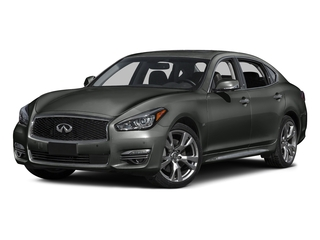 Storm Front Gray 2015 INFINITI Q70L Pictures Q70L Sedan 4D LWB AWD V8 photos front view