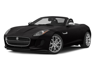 Ultimate Black Metallic 2015 Jaguar F-TYPE Pictures F-TYPE Convertible 2D V6 photos front view