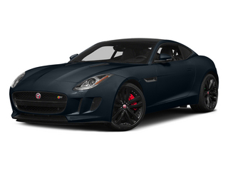 Dark Sapphire Metallic 2015 Jaguar F-TYPE Pictures F-TYPE Coupe 2D R V8 photos front view