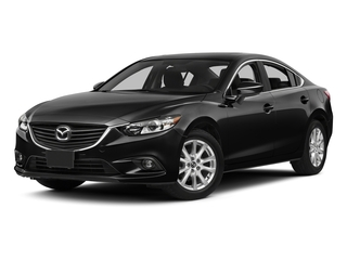 Jet Black Mica 2015 Mazda Mazda6 Pictures Mazda6 Sedan 4D i Touring I4 photos front view