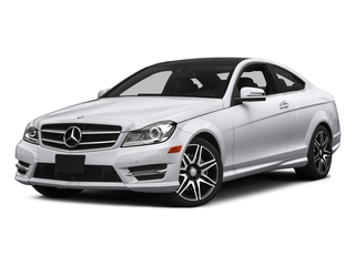 Polar White 2015 Mercedes-Benz C-Class Pictures C-Class Coupe 2D C350 V6 photos front view