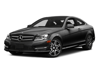 Obsidian Black Metallic 2015 Mercedes-Benz C-Class Pictures C-Class Coupe 2D C350 V6 photos front view