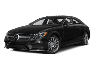 Obsidian Black Metallic 2015 Mercedes-Benz CLS-Class Pictures CLS-Class Sedan 4D CLS550 V8 Turbo photos front view