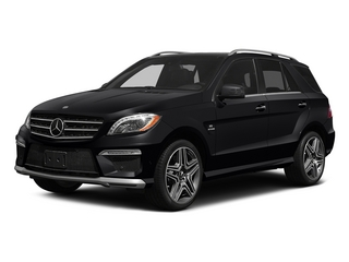 Black 2015 Mercedes-Benz M-Class Pictures M-Class Utility 4D ML63 AMG AWD V8 photos front view