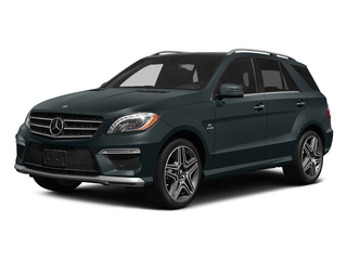 Steel Gray Metallic 2015 Mercedes-Benz M-Class Pictures M-Class Utility 4D ML63 AMG AWD V8 photos front view