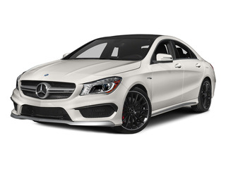 Cirrus White 2015 Mercedes-Benz CLA-Class Pictures CLA-Class Sedan 4D CLA45 AMG AWD I4 Turbo photos front view