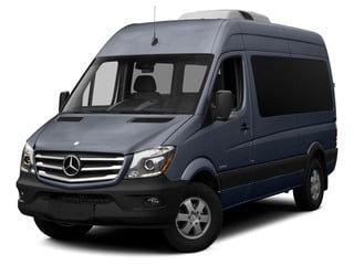 Steel Blue 2015 Mercedes-Benz Sprinter Passenger Vans Pictures Sprinter Passenger Vans Passenger Van High Roof 4WD photos front view