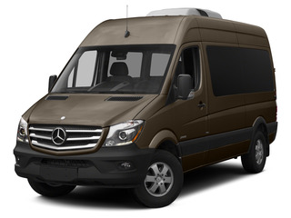 Dolomite Brown Metallic 2015 Mercedes-Benz Sprinter Passenger Vans Pictures Sprinter Passenger Vans Passenger Van High Roof 4WD photos front view